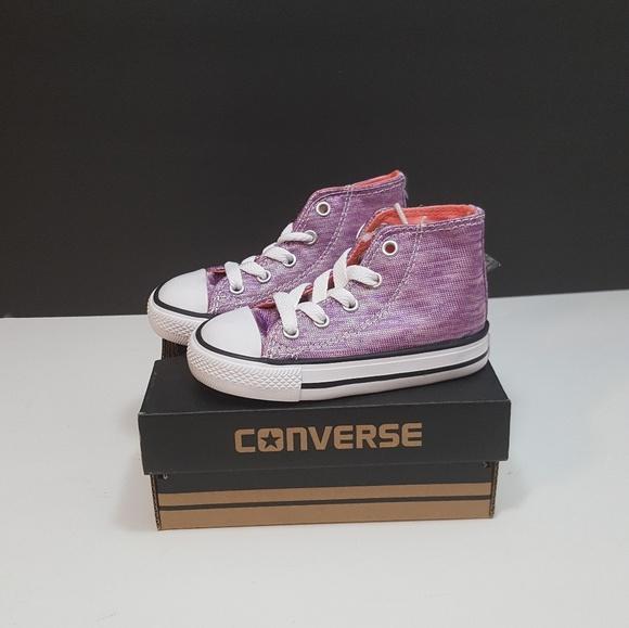 bd3b3adc849 Converse Girls Chuck Taylor All Star Hi High Tops